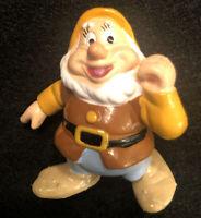 "Vintage Disney Snow White Happy PVC Figure by Applause 2"" Dwarfs"