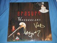 ERASURE GROUP SIGNED WONDERLAND VINYL ALBUM