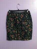 Women's Black & Floral Printed Esprit Skirt Size 7/8