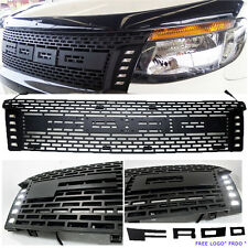 FIT FORD RANGER Front Grille Drl Led Px Wildtrak XL XLt Full ABS Ute Black