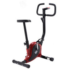 Exercise Bike Stationary Cycling Fitness Cardio Aerobic Equipment Gym Red