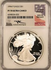 1994 Proof Silver Eagle - NGC PF70 Ultra Cameo Signed by Mercanti !!