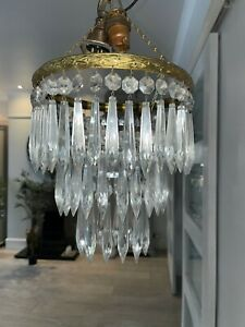 small waterfall antique icicle crystal chandelier