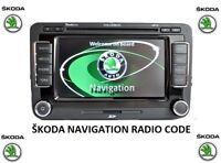 Skoda Navigation Radio Code Stereo Codes Symphony Columbus Unlock | Fast Service