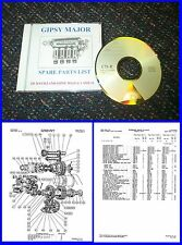 Gipsy Major Engine Spare Parts List - Illustrated on CD