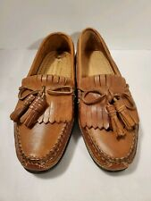 Johnston & Murphy Passport Brown Tassel Leather Loafers Men's Shoes 8M