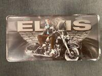 Elvis Presley Black License Plate Wings Motorcyce The King Metal