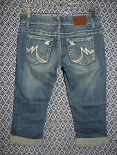 Maurices Jeans Women's Whiskers Cropped Capris Stretch Denim Blue Jeans Size 1/2
