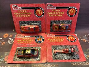 McDonalds Promotional NASCAR & NHRA 1/64 Diecast Lot of 4 1994 Earnhardt Gordon