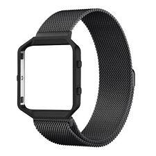Magnetic Milanese Loop Stainless Steel Watch Band Strap + Frame for Fitbit Blaze