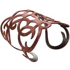 """Karine Sultan Angela Arabesque Copper Cuff Bracelet 3"""" W-French Statement Cuff"""
