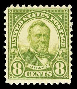 Scott 560 1923 8c Grant Perforated 11 Flat Plate Issue Mint F-VF HR Cat $37.50