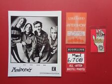 MUDHONEY,1 Promo Photo,3 Backstage passes,Tour Originals