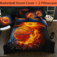 3D Basketball Fire Bedding Set Sport Duvet Cover Set Comforter Cover Pillowcases