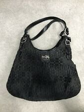 Coach Shoulder Bag Purse Pocketbook Black/Purple