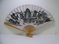 Vintage Large Wall Decor Oriental Chinese Folding Fan Style Decor