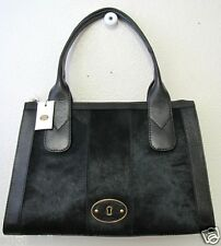 Fossil Vintage Re-Issue VRI Satchel Top Zip Black Haircalf SHB1108001 NWT