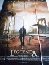 """LOCANDINA FILM """"IO SONO LEGGENDA"""" WILL SMITH - F.TO 197X138 (DIVISA IN 2 PARTI)"""