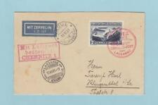 LIECHTENSTEIN C8 ZEPPELIN COVER 1931