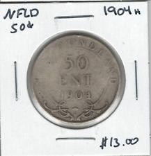 Canada Newfoundland 1904H 50 Cent Silver