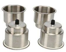 (4pcs) Stainless Steel Cup Drink Holder Marine Boat RV Camper  / free shipping