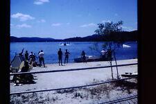 Original slide photo 1968 Kodachrome Water Skiers Lake Mohawk