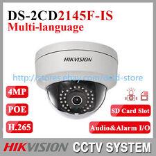 Hikvision DS-2CD2145F-IS Multi-language 4MP Audio Alarme IR IP Caméra Dôme 2.8mm