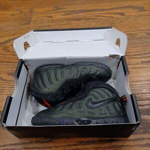 Nike Little Posite One Sequoia/ Black/ Orange Shoe toddler 843769-300 Size 7C