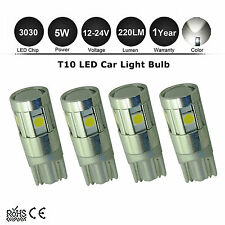 4x T10 194 168 3030SMD LED Car Wedge Tail Side Parker Light Globes 12V-24V WHITE