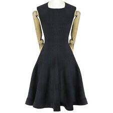 Alaia Black Form-Fitting Flared Circular Skirt Sleeveless Skater Dress FR40 UK12