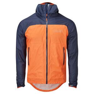 OMM Halo+ Men's Waterproof Running Jacket, Orange/Navy