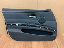 ✅06-11 OEM BMW E90 335 328 330 Sedan Front Driver Left Door Panel BLACK Leather
