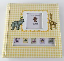 Baby Book Baby's 1st Photo Album Giraffe Baby Shower Gift Elephant Yellow