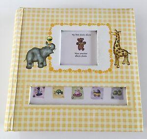 Baby Book Baby's 1st Photo Album Yellow Giraffe Baby Shower Gift Elephant