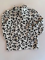 GYMBOREE Girls LS Turtleneck Shirt, B&W DALMATIAN Print, Size 3t, GUC