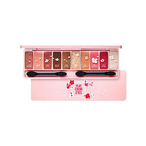 ETUDE Play Color Eyes #CHERRY BLOSSOM 0.8g x 10, Eye Shadow Palette Makeup