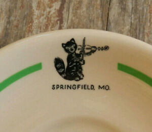 Vtg Cat & the Fiddle Restaurant Ware Springfield MO Saucer Inca 1950s Route 66