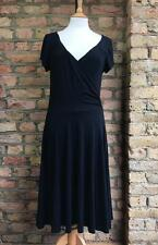 H&M v neck cross over front jersey material day dress size EUR 40 UK 12-14