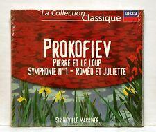 MARRINER, de WAART - PROKOFIEV Pierre & le loup, symph.#1, romeo DECCA CD SEALED
