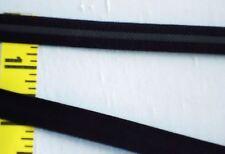 "3/8"" LIngerie Strap Elastic w/ Silicone Strip Black Grip Elastic 5 yds #036"