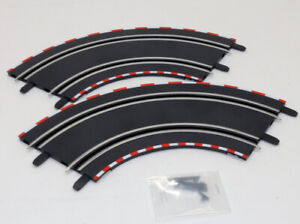 Carrera GO 1/43 Slot Car Track 90° Curved Section QTY. (2) NEW BUT NO PACKAGING