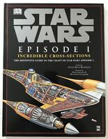Star Wars Episode 1 Incredible Cross Sections Guide to the Crafts Book HC 1999