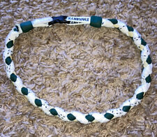 Swannys Green/White/Gold Hockey Lace Woven Necklace