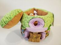 DISNEY Baby Winnie the Pooh Plush Soft Treehouse With Pooh, Tigger & Eeyore