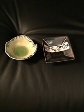 Vintage two (2) small bowls for trinkets or soy sauce, handmade unusual