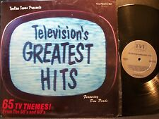 TELEVISION'S GREATEST HITS 65 TV Themes double LP 1985 TeeVee Toons NM
