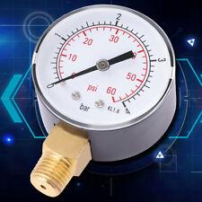 """Pressure Gauge Pressure Manometer Air Compressor Pressure 0-4 bar 1/4"""" NPT el"""