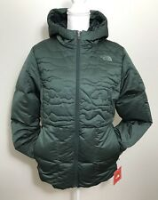 The North Face Women's Rhea Down Jacket Coat Darkest Spruce Heather Sz S M L XL
