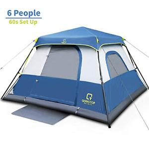 OT QOMOTOP Tents, 6 Person 60 Seconds Set Up Camping Tent, Waterproof Pop Up Top