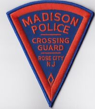Madison Crossing Guard Rose City Police New Jersey Patch NEW
